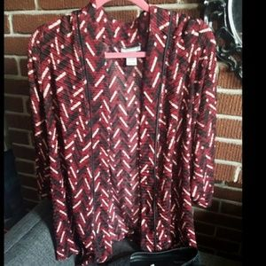 Catherines Dark Red, Black and White Jacket